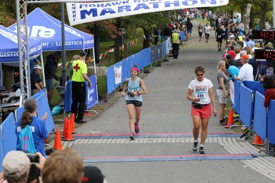 Baird crosses the finish line.