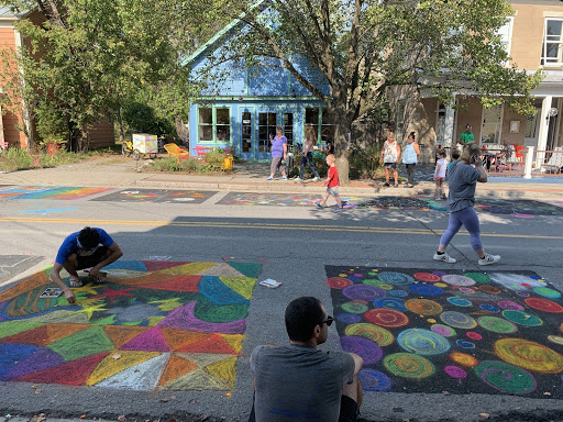 While Rhinebeck Porchfest takes place, just north in Tivoli the Street Painting Festival is in full swing!