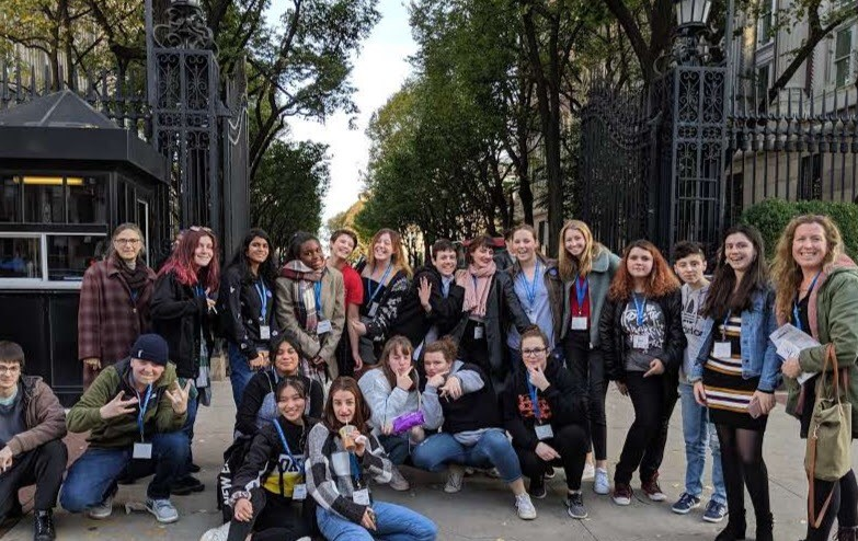 Rhinebeck reporters, editors, designers, yearbook staffers, and creative writers all enjoyed the day long trip to Columbia University.