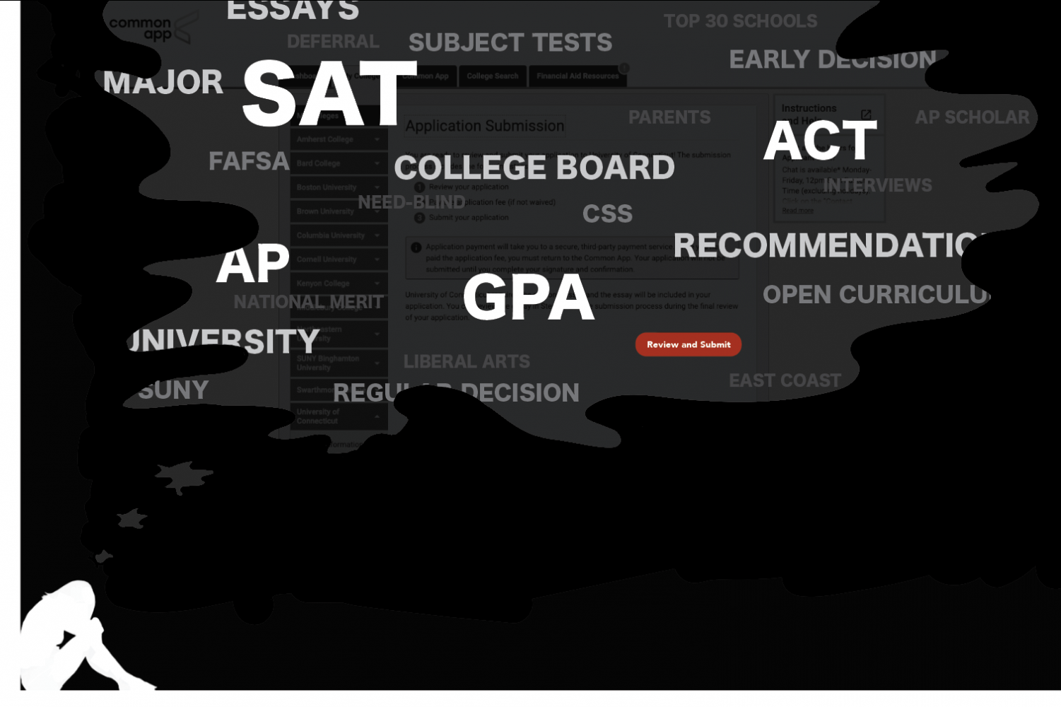 For many college-bound students, the application process induces overwhelming anxiety.