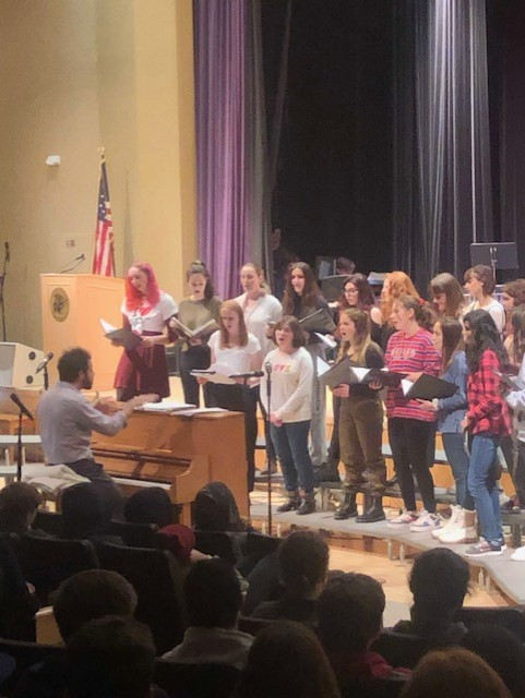 BMS, RHS Students Enjoy Combined Band and Chorus Concert