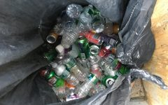Contaminated cans and bottles found in the RHS trash dumpster.