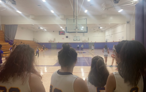 JV Girls Basketball players look with hope to their middle school counterparts.