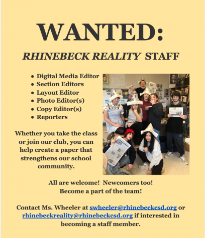 Call for Staffers:  Rhinebeck Reality Wants You!