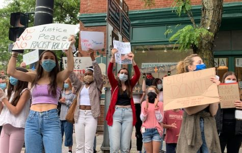 Local students occupied the corners of Rhinebeck for around 2 hours.