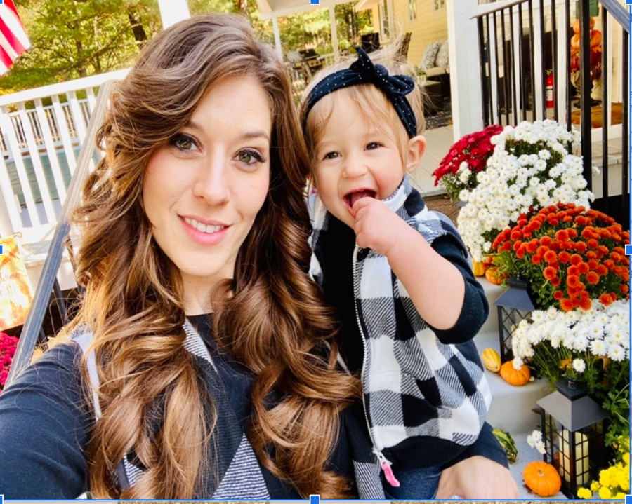 Mrs. Mazzone and her daughter taking a selfie while enjoying a nice Autumn day.