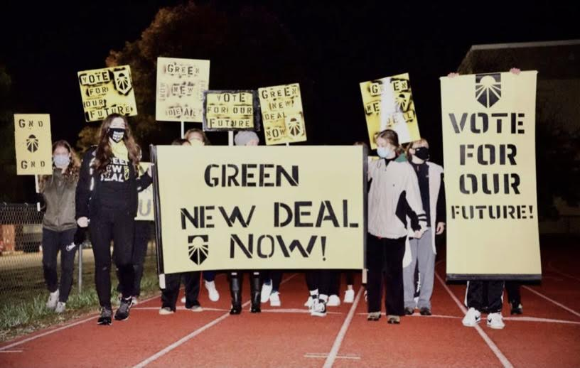 Sunrise High School students rally at a Wide Awake Protest.