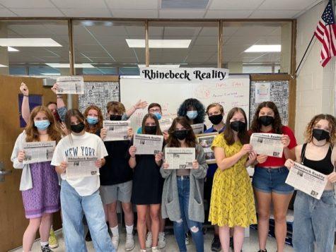 Photo of Rhinebeck Reality staff, photo taken by adviser Sarah Wheeler.